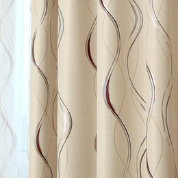 Luxury Window Cottons Australia - Line Embroidered Blackout Curtains for Living Room Window Panels Curtains for the Bedroom Luxury Tulles Blinds