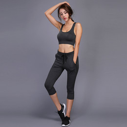 21faa7e6b6ca1 2018 New Quick Dry Running Sets Pants Bra women Slim Sports yoga Bra Pants  suits Women Breathable Gym Jogging Training Leggings