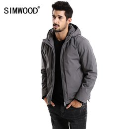 40294665ff3 SIMWOOD New 2018 Winter Men Outerwear Plus Size Polyester Thick Fashion  Jacket Men Casual Warm High Quality Brand Coats MD017002 C18111301