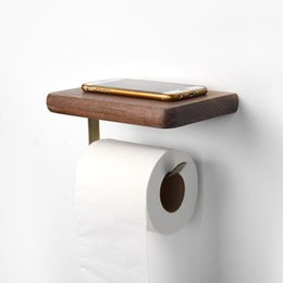 Home Storage Shelf Iron+wood Toilet Paper Holder Adhesive Paper Towel Holder Under Cabinet For Kitchen Bathroom #4a16 Bathroom Hardware