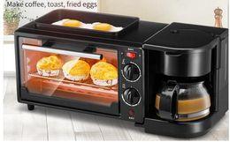 3 в 1 Завтрак мейкеры Главная многофункциональный завтрак машина кофе электрическая духовка мини-завтрак машина кофе-машина на Распродаже