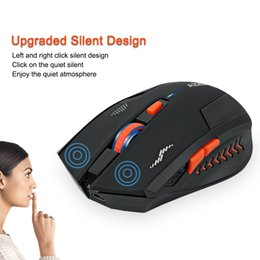 Built Computers Australia - Wholesale- Rechargeable Wireless Mouse Gaming 2400DPI Mouse Gamer Mice 6 Buttons 2.4G Silence Built-in Lithium Battery Laser Computer Mouse