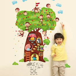 Large Kids Wall Pictures Australia - Bulk Lots Animal Tree Wall Sticker Wallpaper Wall Picture Art Vintage Room Home Decor Kitchen Accessories Household Craft Suppllies