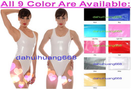 $enCountryForm.capitalKeyWord NZ - Sexy White PVC Short Body Suit Costumes Sexy 9 Color Shiny PVC Short Suit Catsuit Costumes Sexy Women Short PVC Bodysuit Costumes DH224