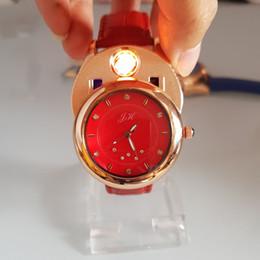Discount jh watches Women Watch cigarette lighter quartz watches USB Charging Windproof creative environmental women clock JH-366