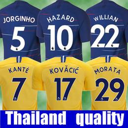 Top thailand HAZARD JORGINHO soccer jersey 2019 KOVACIC GIROUD KANTE  Camiseta football kit shirt 18 19 RUDIGER WILLIAN maillot camisetas 1d5fe1a83