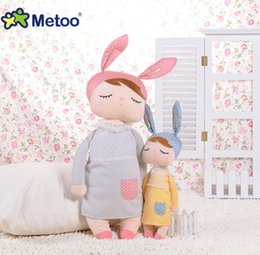 New metoo dolls online shopping - 34cm cute rabbit stuffed cloth doll plush toy Metoo angela baby bunny doll appeases toy children brithday gift girls room decorative YA0282
