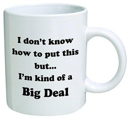 Wholesale Funny Mug I don t know how to put this but I m kind of a big deal OZ Coffee Mugs Inspirational gifts and sarcasm