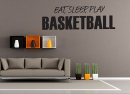 Play Room Wall Stickers Australia - New Arrival Eat Sleeping Play Wall Sticker Vinyl DIY Home Decor Basketball Players Wall Decals Sport Star for Kids Living Room