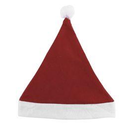 Santa Beanies UK - Christmas Caps Thick Ultra Soft Plush Santa Claus Holidays Fancy Dress Hats Fashionable Design Cap For Holidays 2017 New Arrival