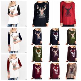 054f8d047 36 Styles Merry Christmas Women Shirt Elk T - shirt Circular Collar Long  Sleeves Elk Letters Printing T - shirt Xmas party top tee FFA1202