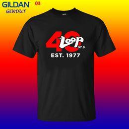 $enCountryForm.capitalKeyWord Australia - The Loop Chicago's 40 Anniversary Rock 97.9 Fm Radio Station Man's T-shirt Cool Casual Pride T Shirt Men Unisex New Fashion