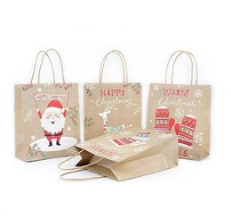 $enCountryForm.capitalKeyWord Australia - Christmas series kraft paper bag NO.3 with handle for gift clothes shoes books packing mini order mini order 3 dozens free shipping by DHL