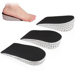 2549bc022373 1 Par Palmilhas Sapato Respirável Meia Palmilha Heighten Heel Insert  Calçados Casuais Almofada Almofada Unisex 2-4 cm Altura Aumento de Palmilhas