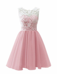 China Simple Chiffon A Line Short Prom Dresses Homecoming Sleeveless Lace Cocktail Dress A Line Above Knee Graduation Vestidos suppliers