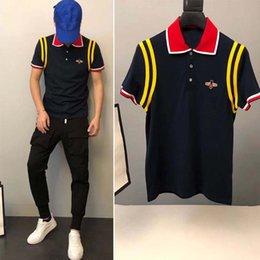 2018 Designer D'été T-shirts Pour Hommes Abeille Motif Impression T Shirt Hommes Vêtements Marque À Manches Courtes T Shirt Tops Blanc S-4XL