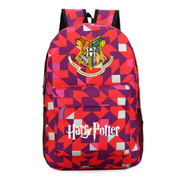 China 14 design Harry Potter backpack Teenagers Schoolbag Laptop Bag Gryffindor Lytherin Hufflepuff and Ravenclaw Rucksacks bag KKA5732 supplier eco friendly wholesale backpacks suppliers