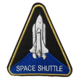 iron custom logo patches NZ - SPACE SHUTTLE NASA Crew Uniform Custume Cosplay Embroidered LOGO Iron On Patch Emo Goth Punk Rockabilly Custom patch