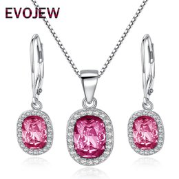 discount lighted christmas earrings evojew claer crystal dangle earingspendant necklace sets 925 sterling silver jewelry - Lighted Christmas Necklace