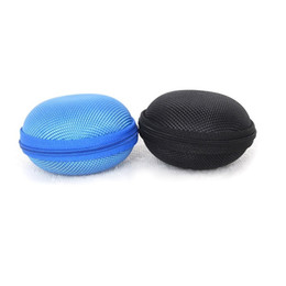 $enCountryForm.capitalKeyWord UK - New Earphone Bags Portable Hold Case Storage Carrying Hard Bag Box for Earphone Headphone Earbuds 4 Colors Black Blue Pink Gray