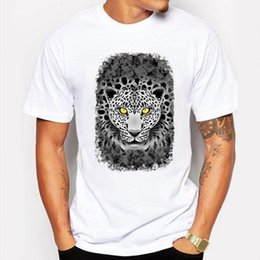 Camping Hiking T Shirts Men Summer Cool Tiger Cartoon Art Print Shirt Funny Anime Short Sleeve White Hip Pop Tee Homme