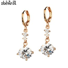 c5e7bb5f7 New Crystals from Swarovski Classic Cubic Zirconia Stud Earrings Gold Color  Stainless Steel Earring for Women Fashion Jewelry