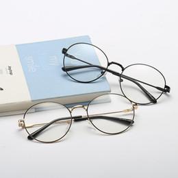 Computer Eyewear Glasses Australia - Round Glasses Frame Computer Fake Glasses Women Men Myopia Optical Eyeglasses Frames Transparent Nerd Glass Eyewear