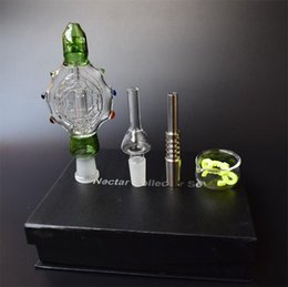 Dab Rig Pendants Australia - 4 Color NEW Nectar Collector Kits glass bongs Glass Smoking Pipes Pendants Domeles Titanium Nail glass bowl recycler DAB bong oil rig bong