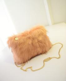 $enCountryForm.capitalKeyWord Australia - Womens Satchel Hobo Clutch Purse NEW Arrival Faux Fur Handbag Zipper Fashion Chains Shoulder Bags Black Blue Pink