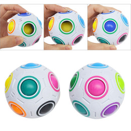 educational games for free Canada - Rainbow Ball Magic Cube Speed Football Fun Creative Spherical Puzzles Kids Educational Learning Toy game for Children Adult Gifts free DHL