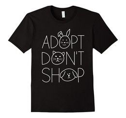 cheap shirts for sale NZ - Adopt Don't Shop Animal Rescue T-Shirts for Animal Lovers Cotton T Shirts Cheap Wholesale 2018 Hot Sale Super Fashion Top Tee