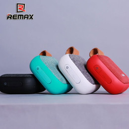 plastic portable bluetooth speaker nfc 2019 - REMAX RB-M15 Fabric Bluetooth Speaker variety of colors Smart Portable Bluetooth SPEAKER w NFC discount plastic portable