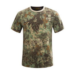 China XH024 Camo 100% Cotton Military Camouflage T-shirt Digital Print in Stock   OEM(Clothes color can be customized, cost the same) suppliers