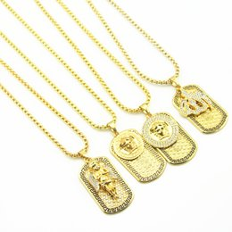Discount jewelry 2018New fashion Punk medusa Gold Silver hip hop neckalce Metal Submachine Hatet Maxi Pistol Necklace & Pendants Hip Hop Jewelry for Men Wome