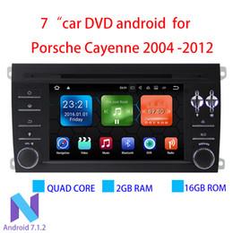 Vente en gros 2 Go de RAM Android 7.1.2 Lecteur DVD de voiture pour Porsche Cayenne 2004-2012 avec Bluetooth WiFi Radio GPS Lien RDS Mirror