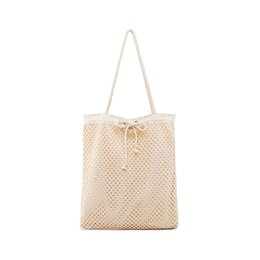 $enCountryForm.capitalKeyWord NZ - New Women Weave Hollow Handbag INS Popular Large Female Casual Beach Shoulder Bags Travel Lady Shopping Knit Handle Tote SS3460