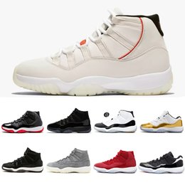 11 11s Mens Basketball Shoes Platinum Tint Cap and Gown concord 45 Gym red  Bred High men women sneaker sports shoe 5.5-13 9ed744115a7a