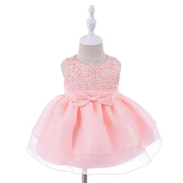baby years birthday dresses 2019 - Vintage White Baby Girls Dress 2018 Summer Newborn 1 2 Years Birthday Dresses Tulle Toddler Girl Wedding Party Baptism C