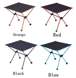 $enCountryForm.capitalKeyWord NZ - Outdoor Portable Folding Barbecue Picnic Table Oxford Cloth Aviation Aluminum Alloy Multifunction Creative Summer Camping Necessities Table