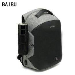 Wholesale BAIBU Men Upgrade Multifunction Anti theft quot Laptop Backpack USB Charging waterproof Business Large Travel Backpack