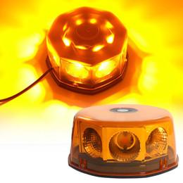 $enCountryForm.capitalKeyWord Australia - 8 LED COB Car Auto Flash Beacon Light Yellow led Emergency Hazard Warning Flashing Strobe Light with Magnetic DC12V 24V