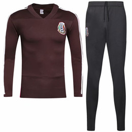 e0432481200 LARGE SIZE XXL 3XL soccer tracksuit training suit 2018 Mexico world cup  France Portugal Mexico Spain football training suit sportswear