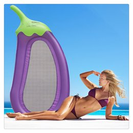 $enCountryForm.capitalKeyWord NZ - Outdoor Swimming Inflatable Lounge Float Giant Purple Eggplant Pool Floats Water Pool Raft with 3 Cup Holder Interesting