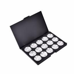 Empty Eyeshadow Pans UK - Empty Magnetic Eyeshadow Pigment Aluminum Palette Pans Makeup DIY Makeup Eye Shadow Pigment Palette Case 15.5*10.5*1.3CM