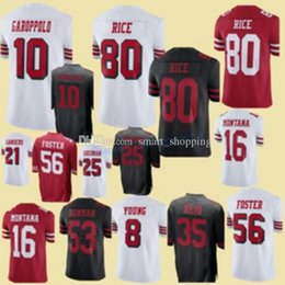 San Francisco 7 Colin Kaepernick 10 Jimmy Garoppolo 49ers Jersey 25 Richard  Sherman 8 Steve Young 56 Reuben Foster 16 Joe Montana 80 Rice 0c6a8b12f