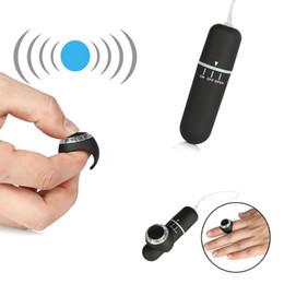 $enCountryForm.capitalKeyWord Australia - Finger Ring Wireless Remote Control Bullet Vibrator 10 Mode Vibrating Nipple Clitoris Stimulator Vibrator Egg Sex Toys for Women S18101905