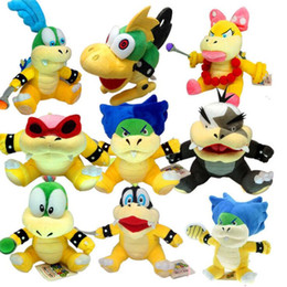 mario plush toys bowser 2019 - 18-23cm Cute Baby Bowser Koopa Super Mario Bros Plush doll Bowser stuffed plush doll Figure Toys