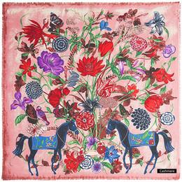 $enCountryForm.capitalKeyWord Australia - Square Women Warm Winter H Horse Print Wool Pashmina Cashmere Design Luxury Animal Stoles Shawls Scarves 130*130 Dropshipping