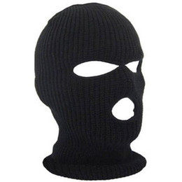 a201a08bc28 3 Hole Ski Mask Balaclava Black Knit Hat Face Shield Beanie Cap Snow Winter  Warm