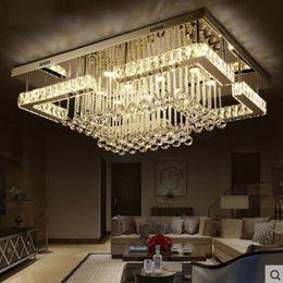 Rectangular Living Room Lamp Led Crystal Lamp Ceiling Modern Minimalist  Atmospheric Bedroom Dining Room Lamps Led Lighting